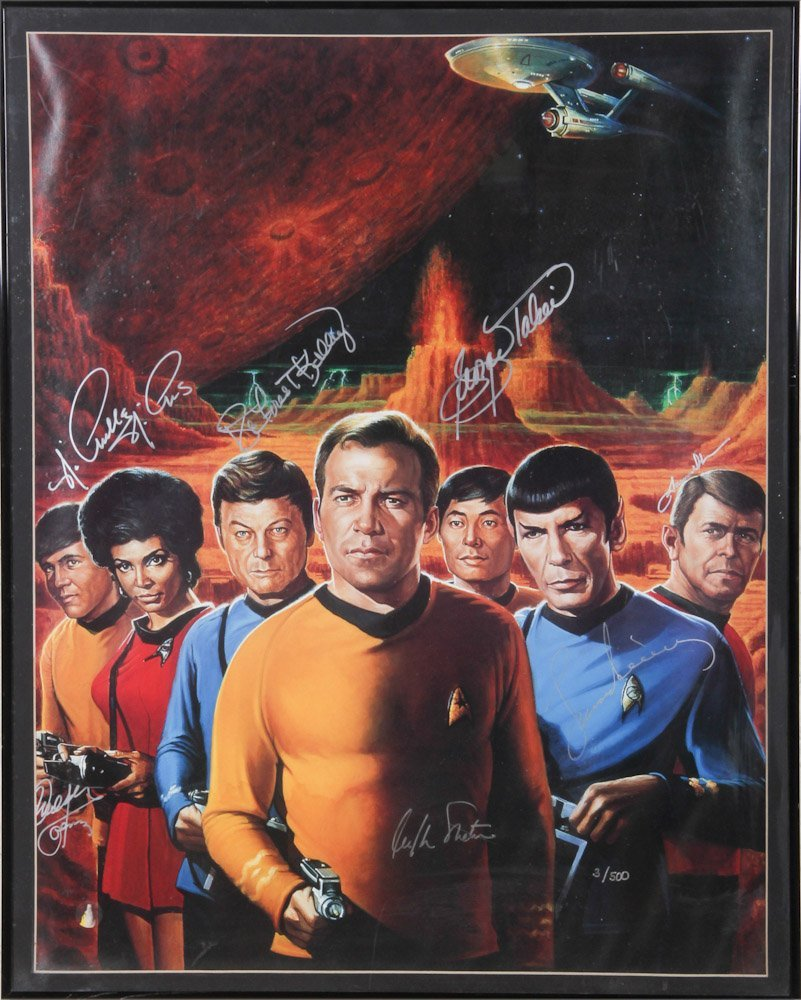 Signed and Numbered Star Trek Crew Poster
