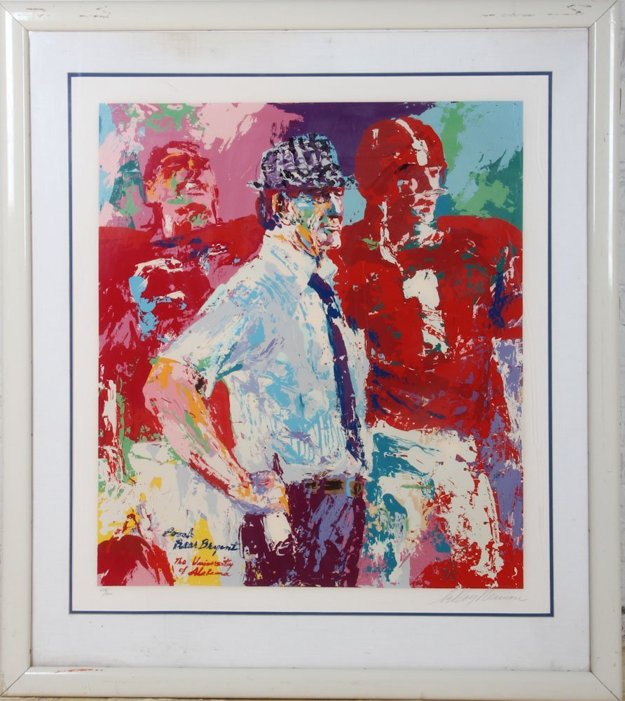 Signed Leroy Neiman Bear Bryant Serigraph (214/300)