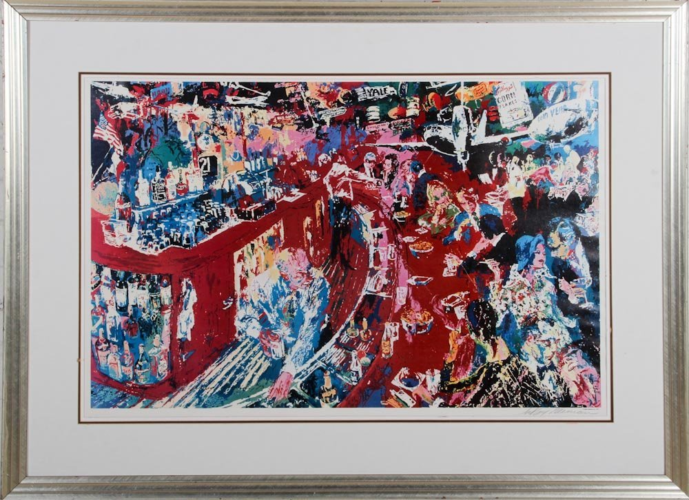 Signed Leroy Neiman Offset Lithograph poster with certi