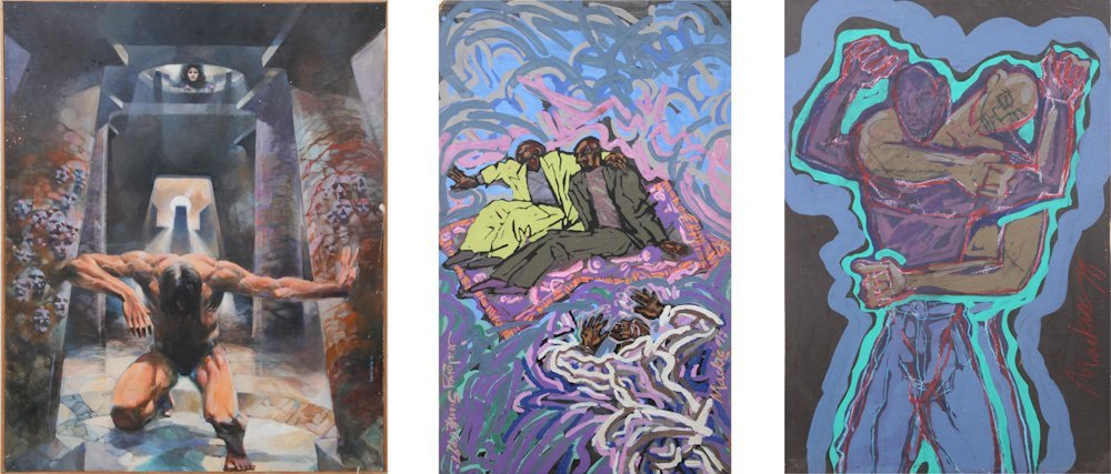 Three Paintings: (1) Bernard Cooke and (2) Deryl Mackie