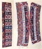 Three Antique Turkish Kilim Panels