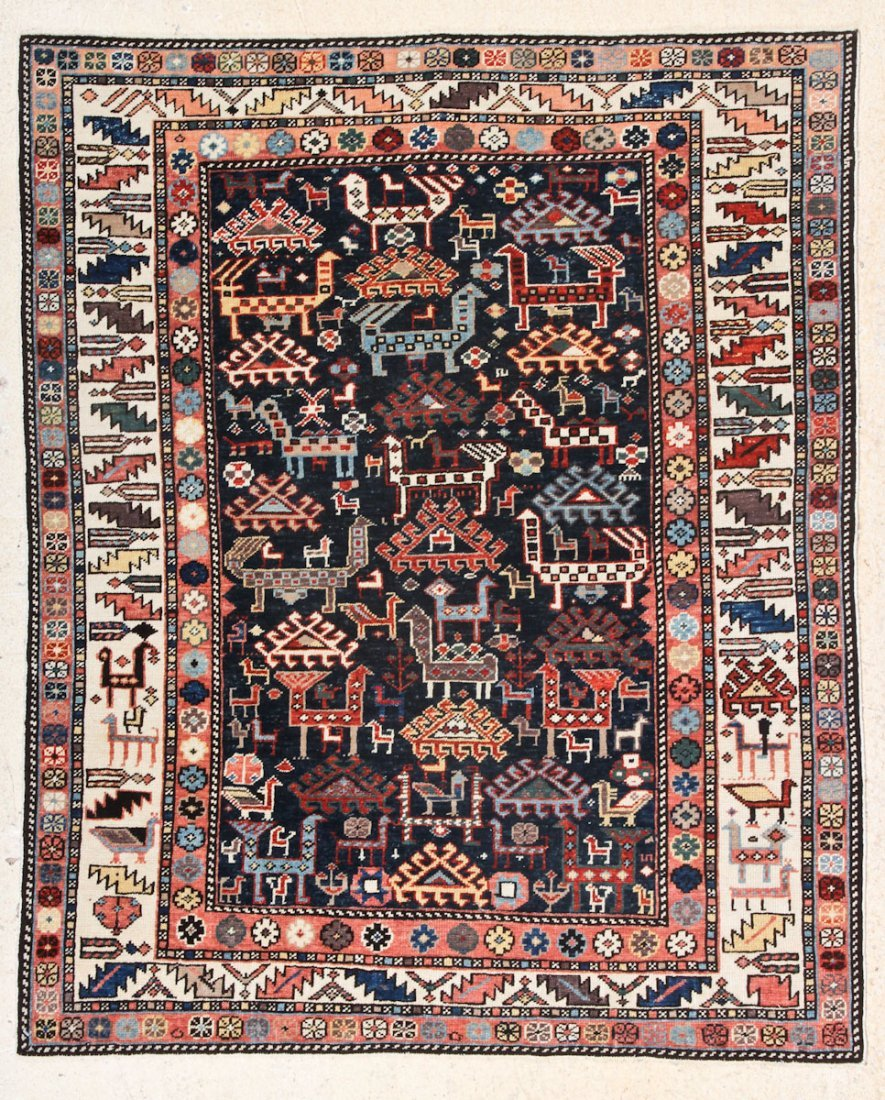 Fine Shirvan Style Small Rug