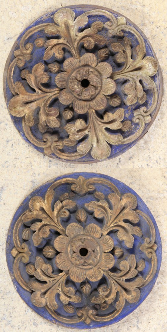 Two 19th C. French Carved Architectural Ornaments
