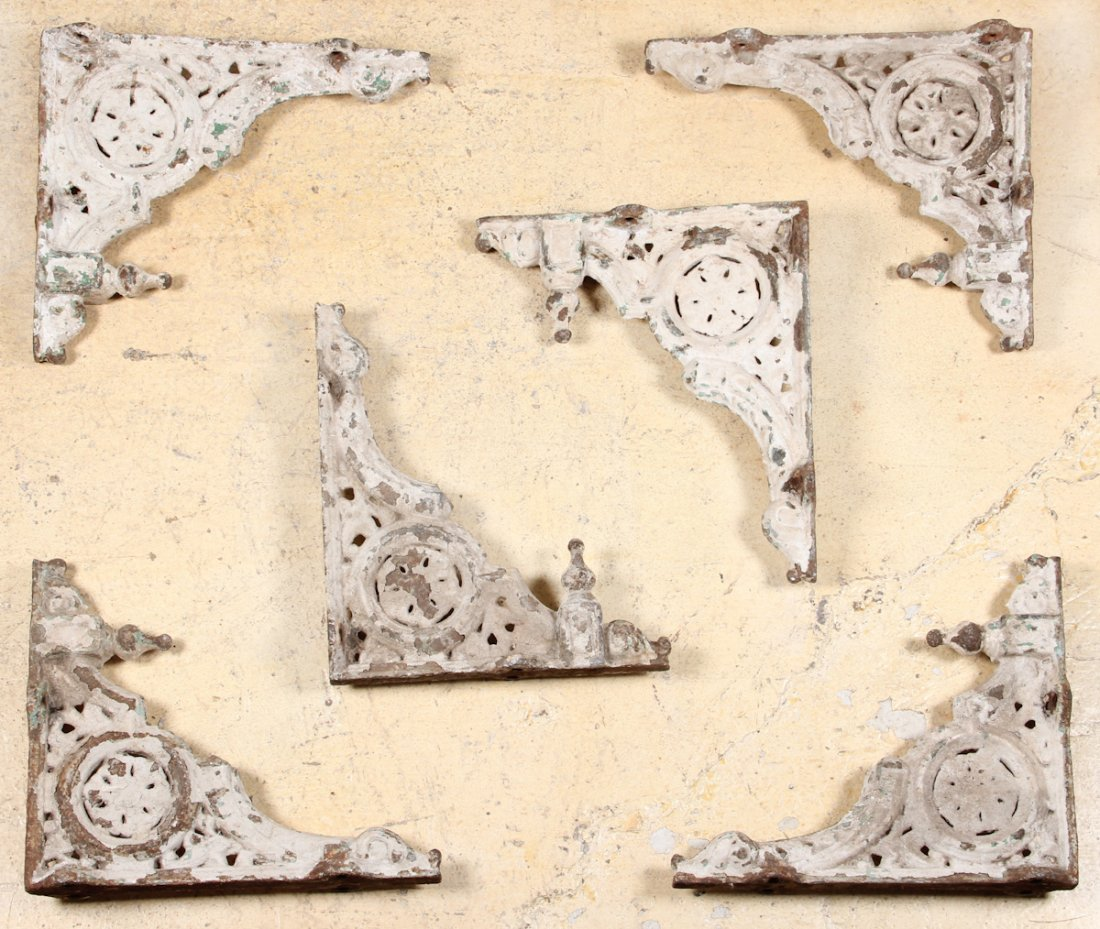 Set of Six 19th C. Continental Iron Brackets
