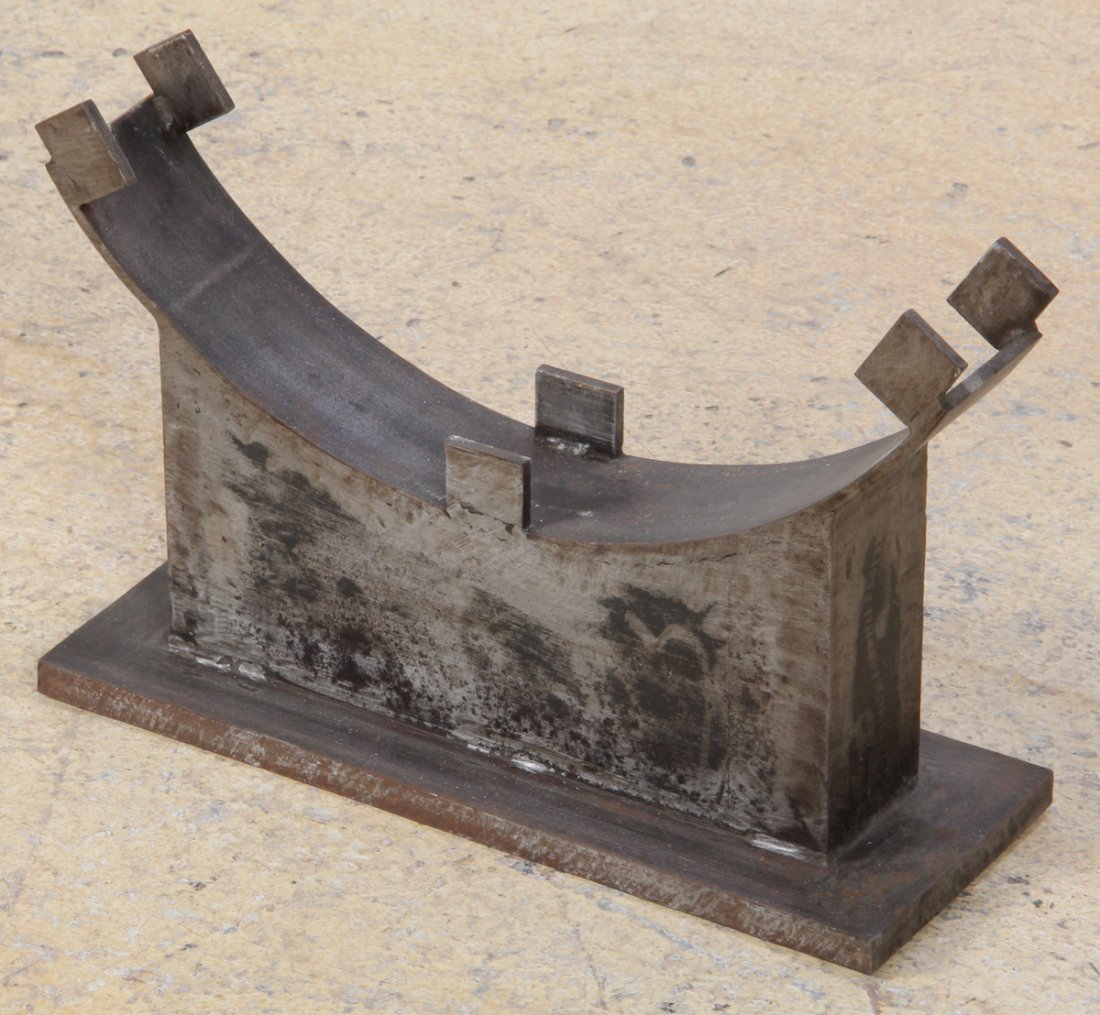 Antique Stone Grinding Wheel with Stand - 5