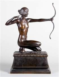 Frank Lynn Jenkins Bronze (1870 - 1927), The Huntress