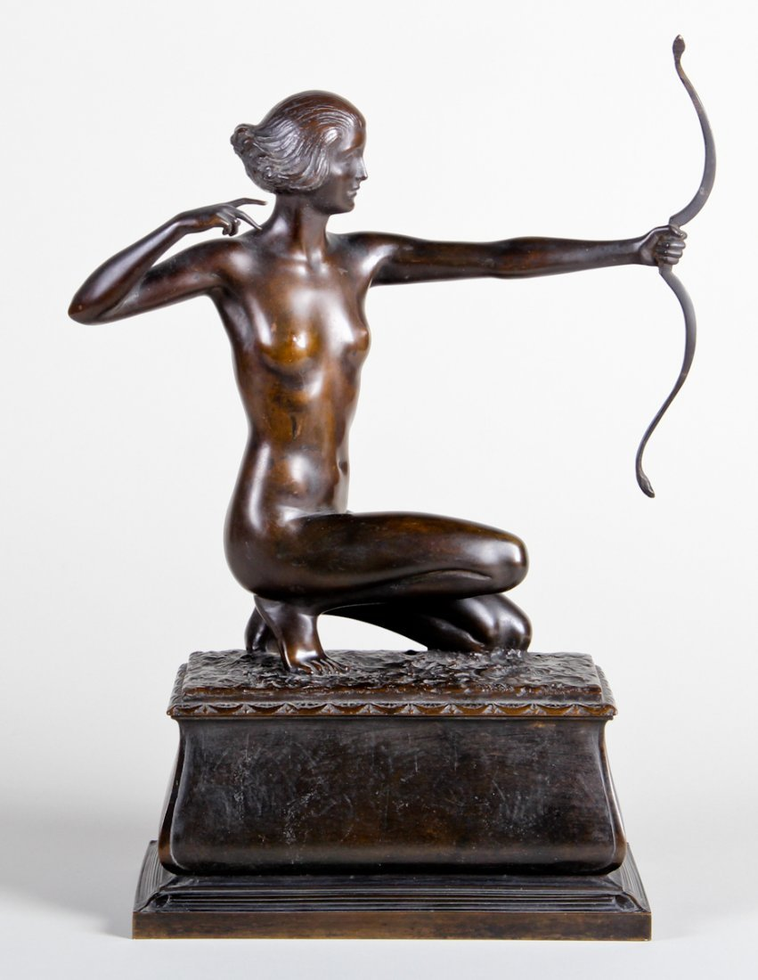 Frank Lynn Jenkins Bronze (1870 - 1927), The Huntress