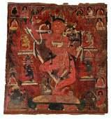 14th-16th C. Tibetan Thangka of Vajra Varahui