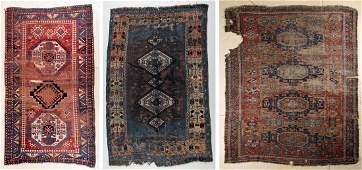 Three Antique Rugs KazakEast Anatolian KurdCaucasian