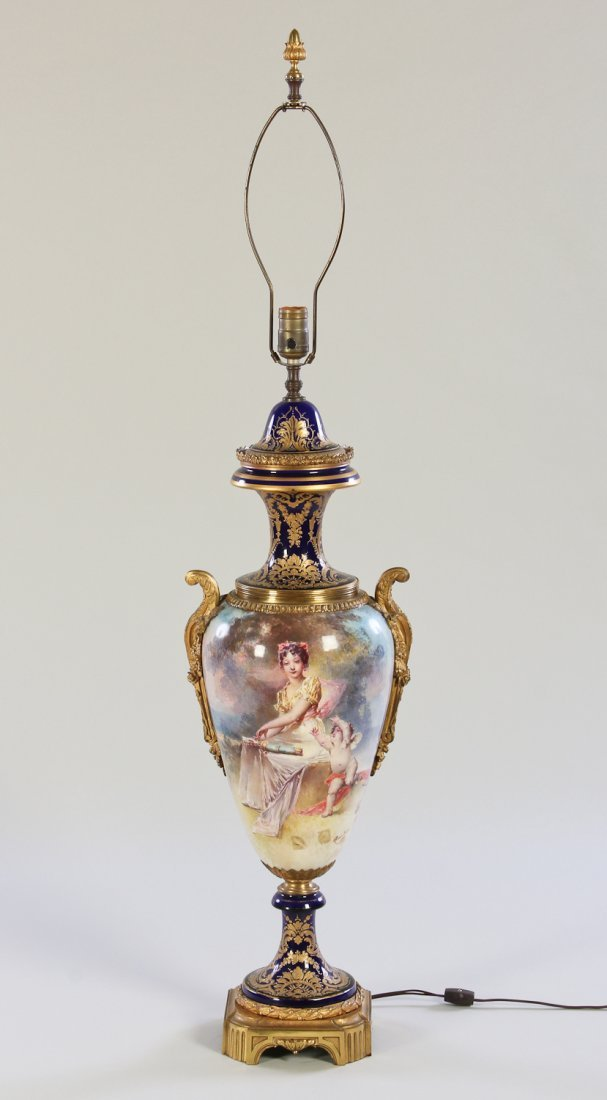 159: Large 19th Century Sevres Vase