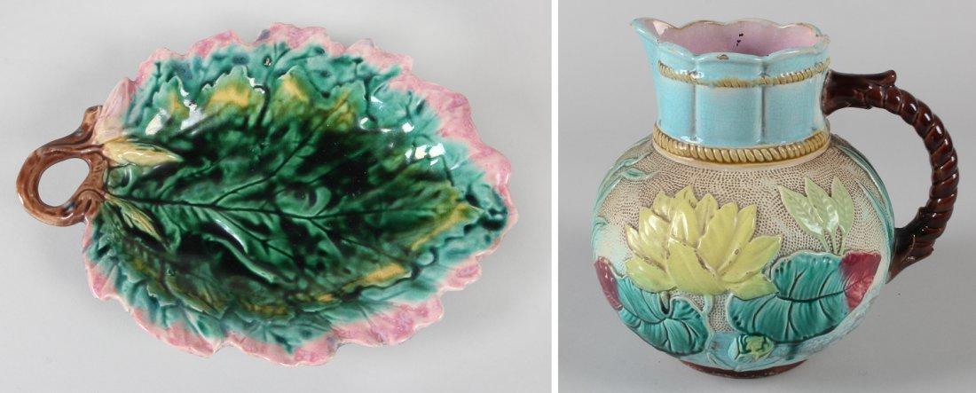 181: Two Victorian Majolica Items