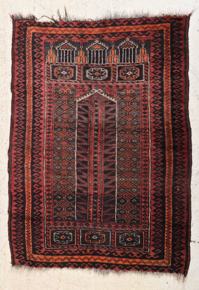 Afghan Belouch Prayer Rug