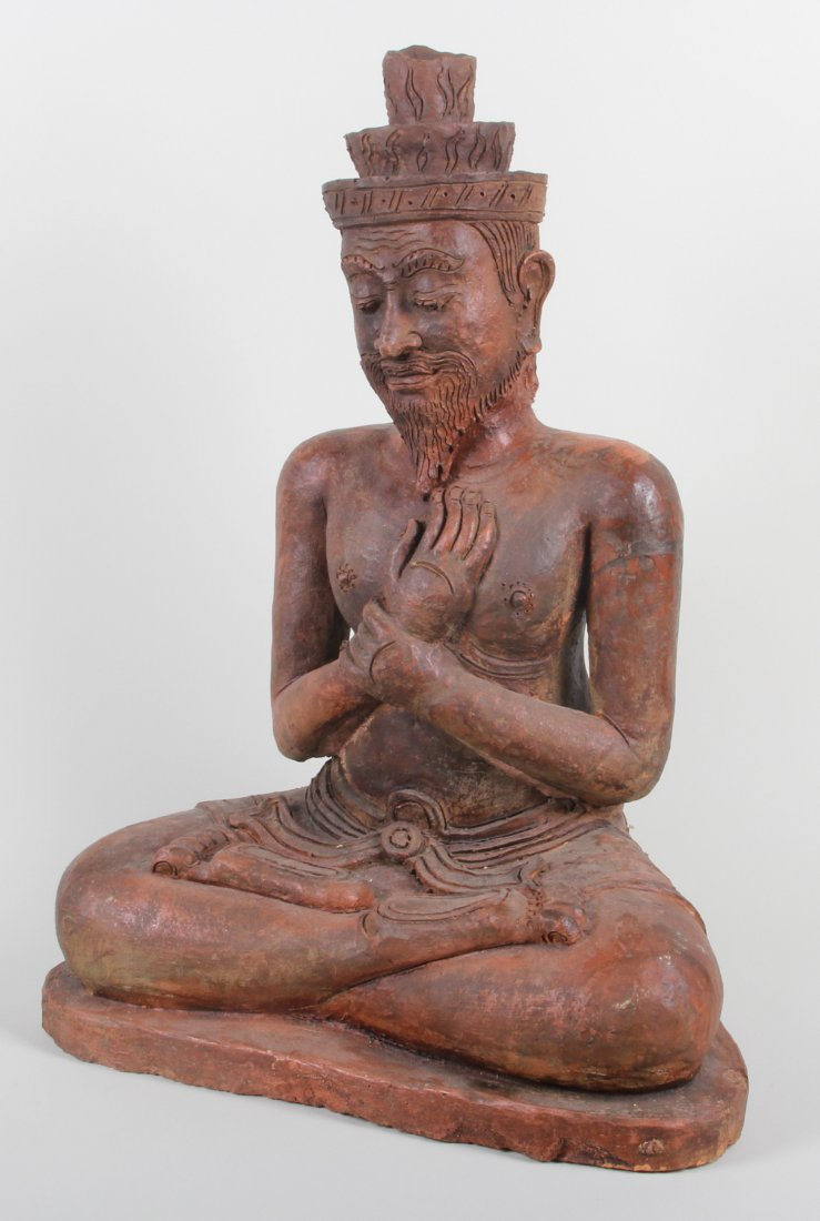 Seated Asian Terra Cotta Figure
