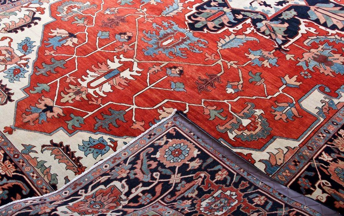 Fine Central Medallion Serapi Carpet - 3