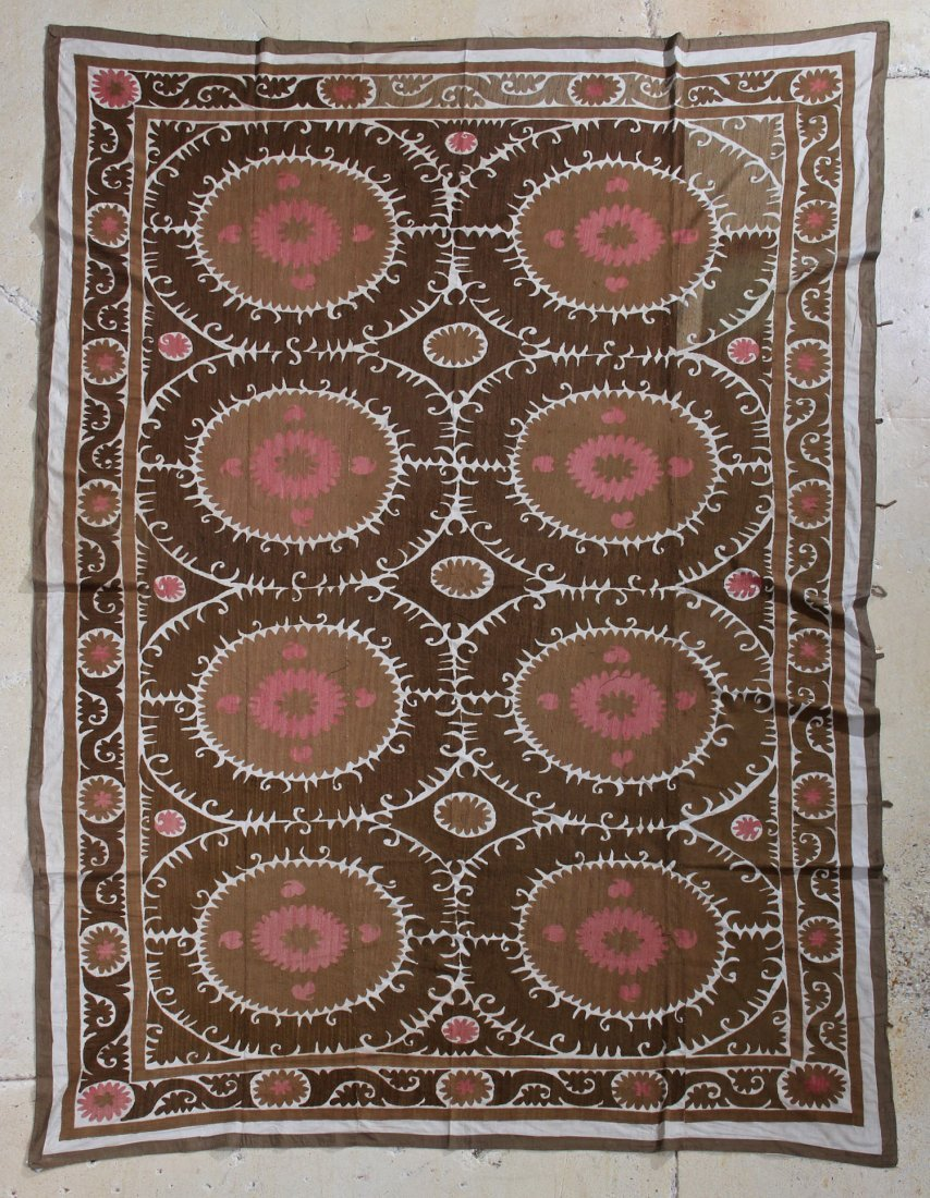 Roomsize Embroidered Suzani Carpet