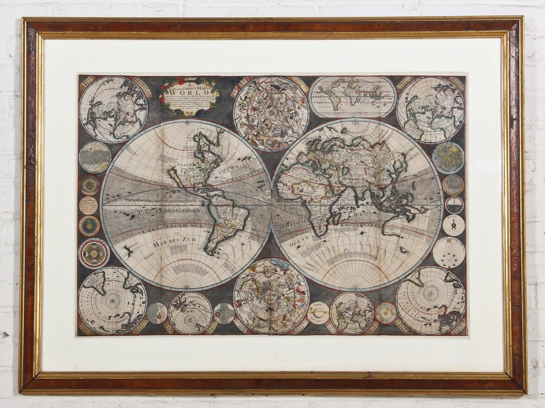 A New and Correct Map of the World, circa 1700s