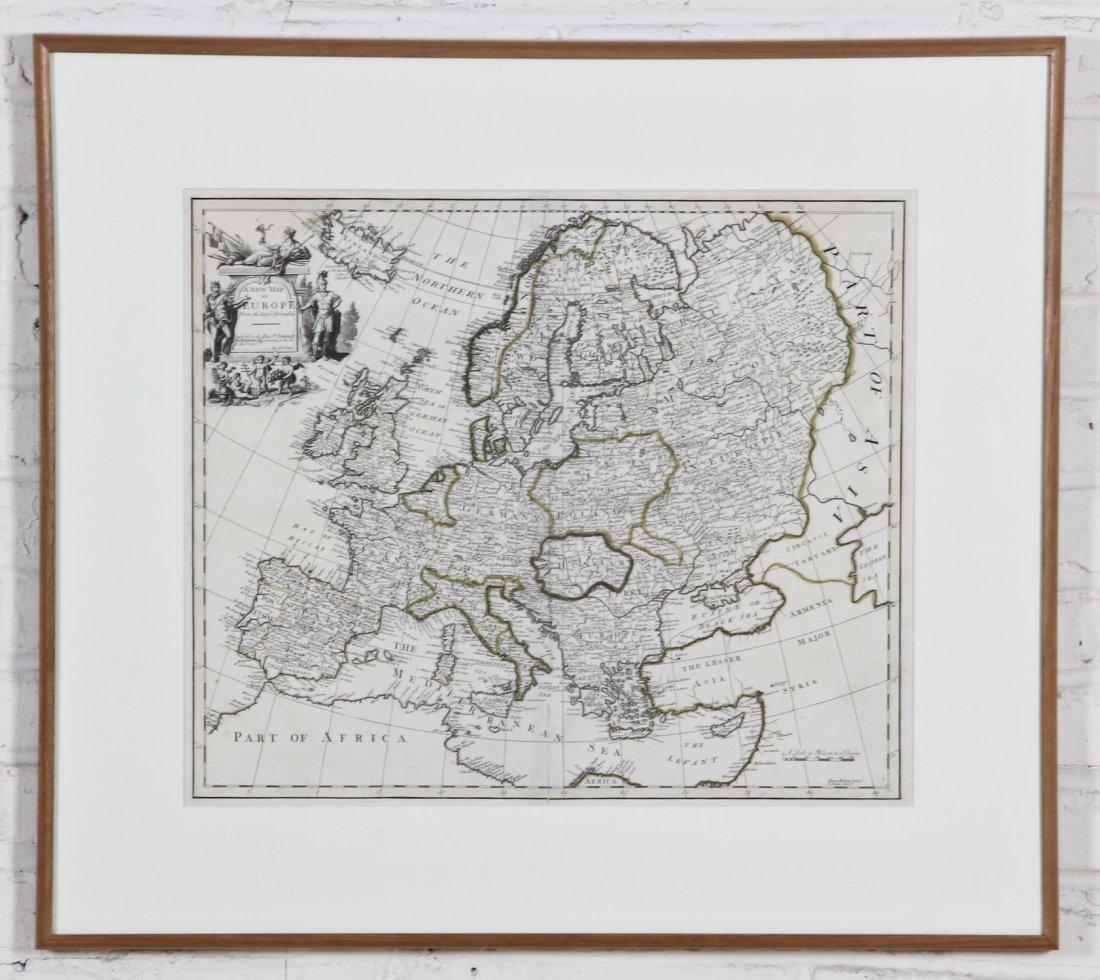 Senex, A NEW MAP OF EUROPE