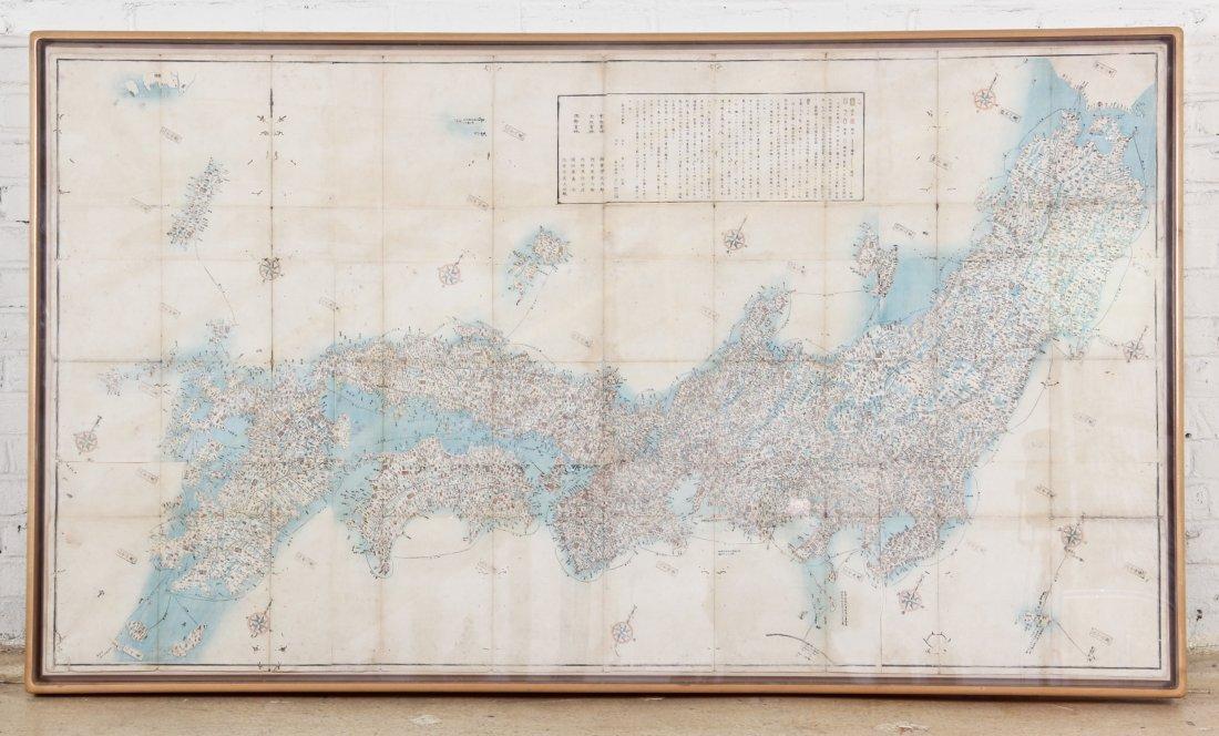 Map of Japan, circa 1900