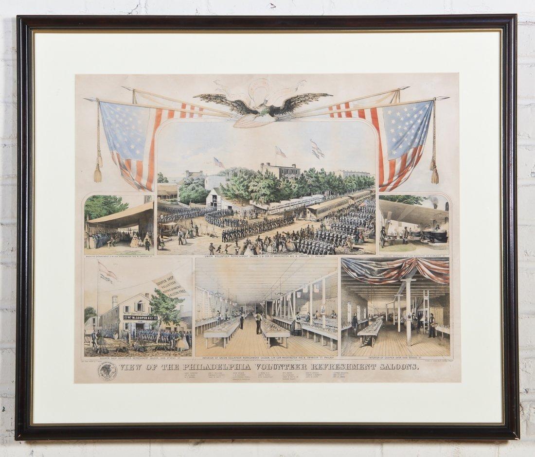James Queen Chromolithograph: Philadelphia Volunteer Re