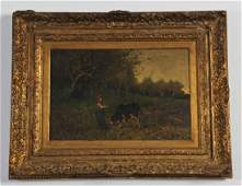 19th C. Oil Painting by Carlo Pittara
