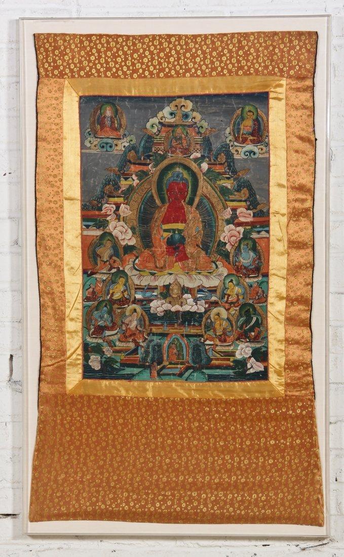 Tibetan Thangka, Sakyamuni (Lives of Buddha)