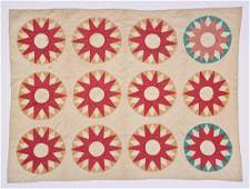 Antique American Mariners Compass Quilt