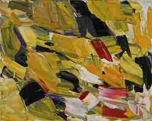 Sanford Greenberg, Mid Century Abstract Oil