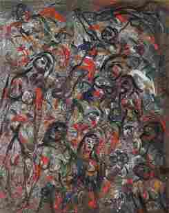 Francis Wharton Stork , abstract oil on board