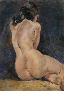 Laura Marie Greenwood, nude painting