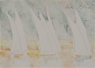 Hobson Pittman (American, 1890-1972), watercolor