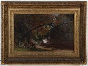 Large Mid-19th century Landscape Painting