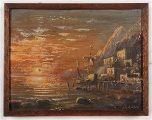 Otto Albert Hirth, Ocean Sunset