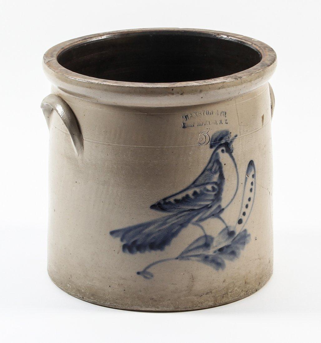 Large American, 19th c, 5 Gallon Stoneware Crock
