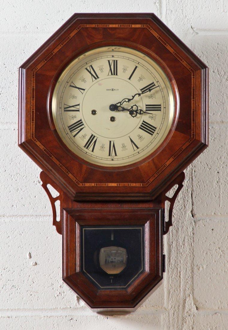 wooden howard miller wall clock