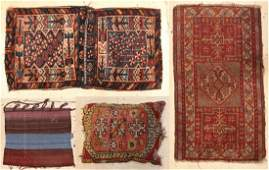 Four Small Antique Oriental Rugs