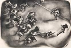 """Benton Spruance, """"Touchdown Play"""", 1933"""