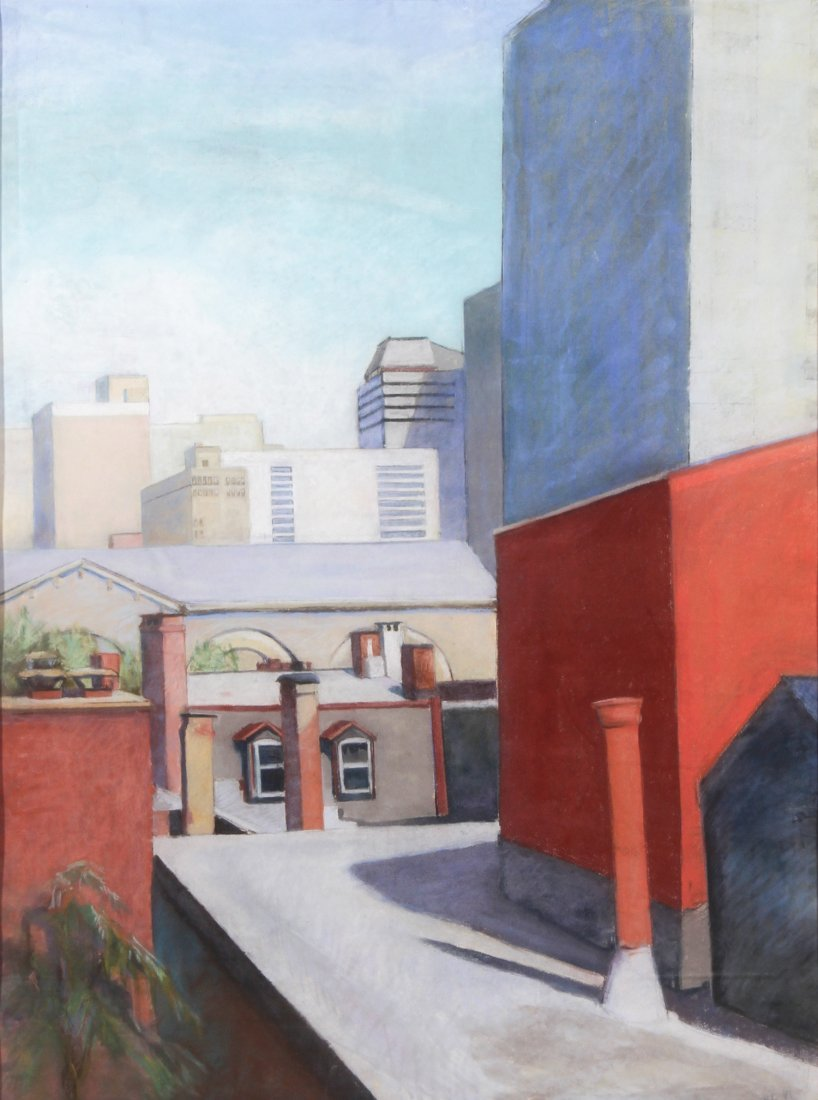 Patricia Ingersoll, Modernist Cityscape, Pastel