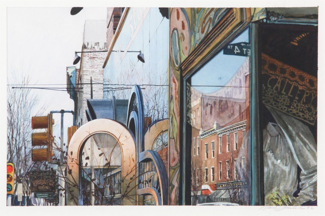 Brumbach, South Street, 1982, Acrylic Painting