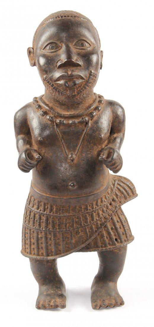 Large African Bronze Benin Dwarf