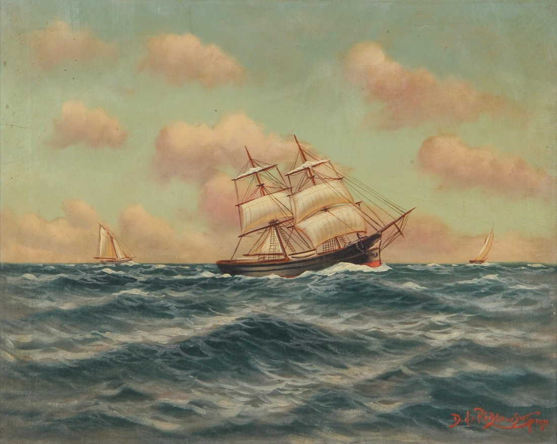Richard Dey de Ribcowsky (American, 1880-1936) Oil Pain