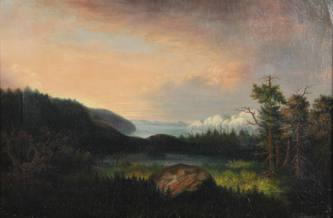 Hudson River School Painting (American, 19th/20th c.) O
