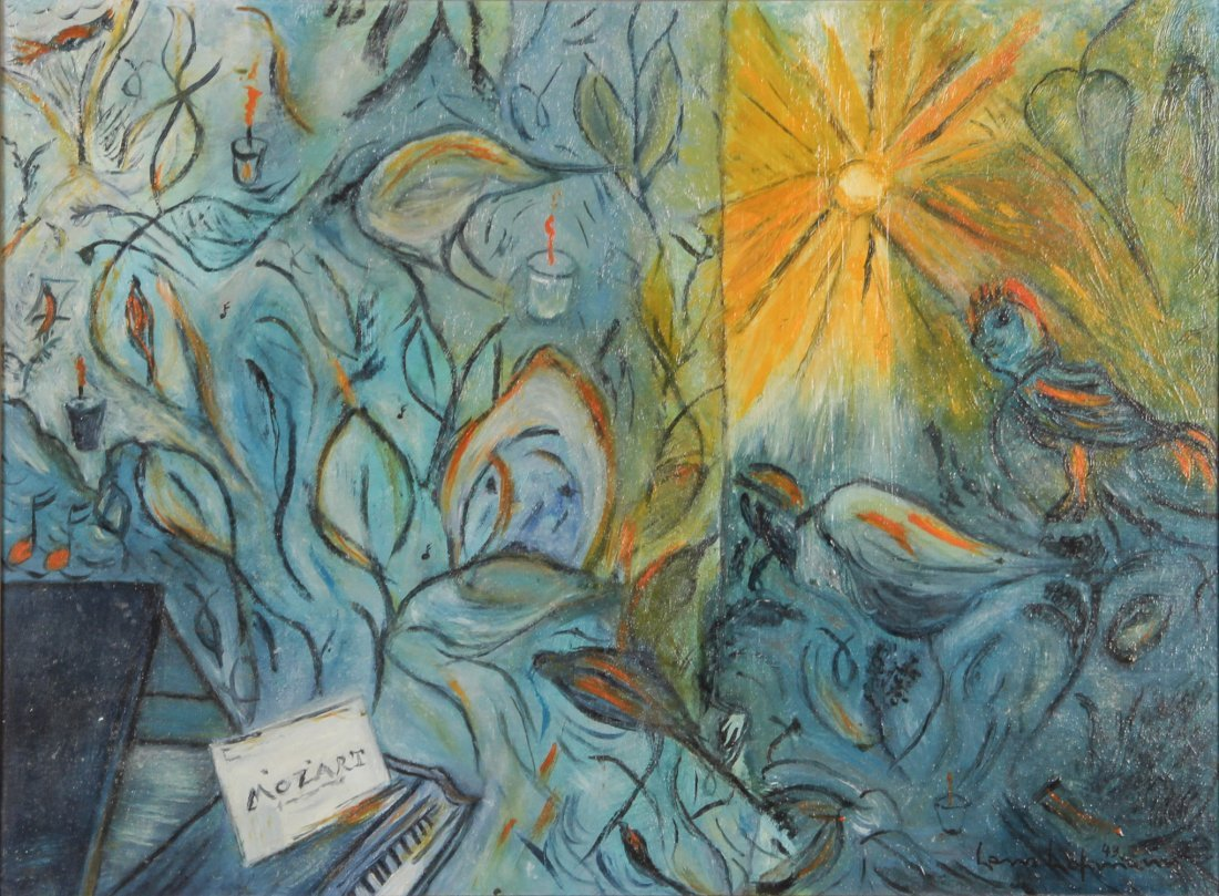 "Oil Painting Signed ""Hans Hofmann"""
