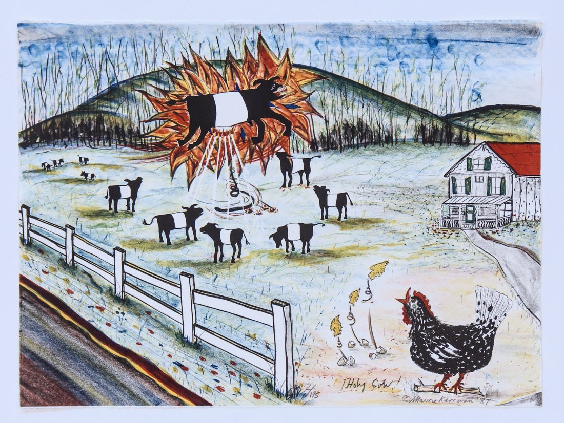"""Maurie Kerrigan Lithograph: """"Holy Cow"""""""