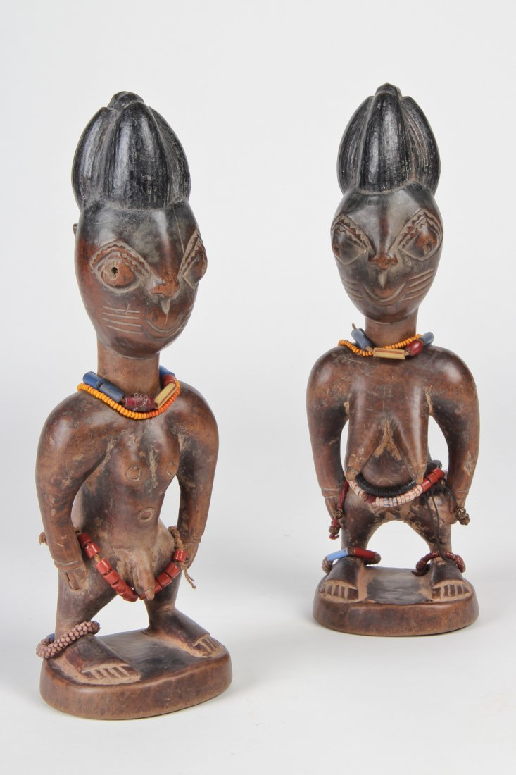 Pair of Fine Ibeji Twins, African