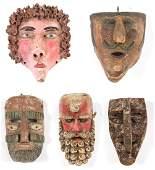 5 Mexican Festival Masks- Mascara