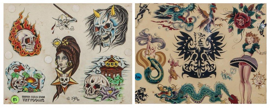 1980's Tattoo Flash Panels- Sailor Moses