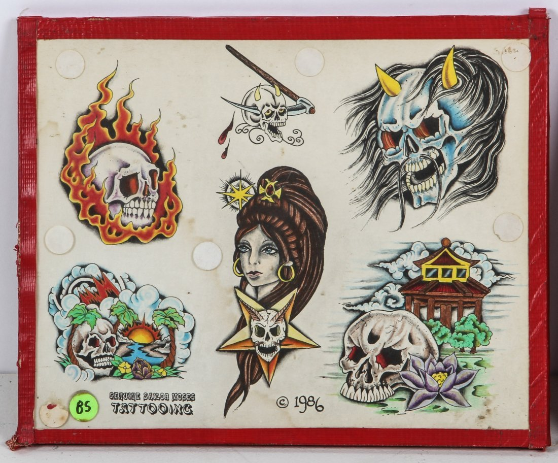 1980's Tattoo Flash Panels- Sailor Moses - 3