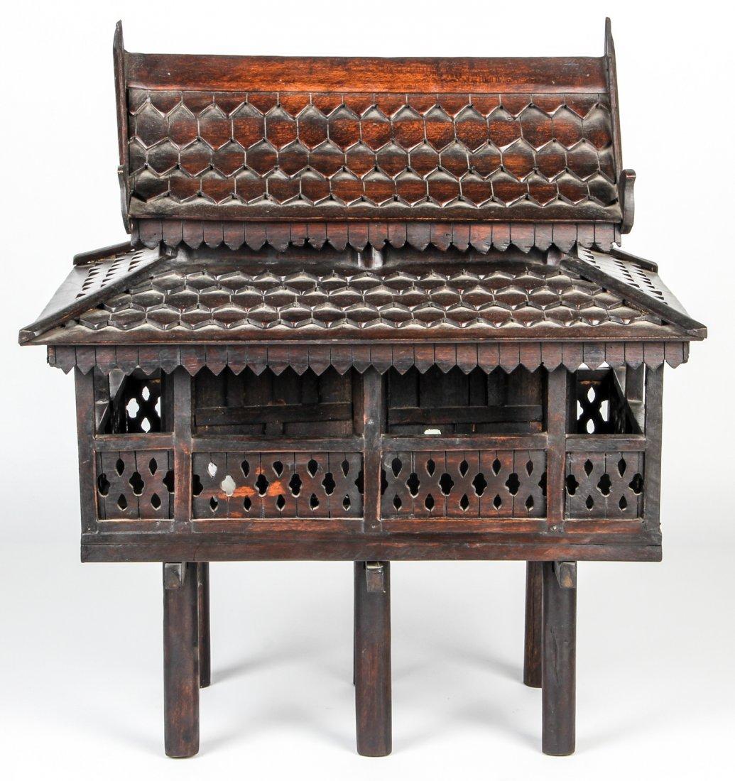 Finely Detailed Vintage Thai Spirit House - 3