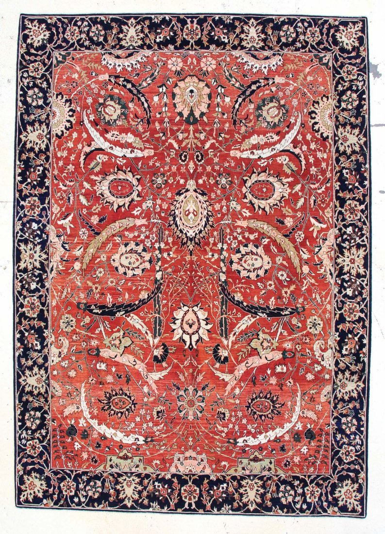 "Classical Safavid Style Carpet: 9'1"" x 12'10"""