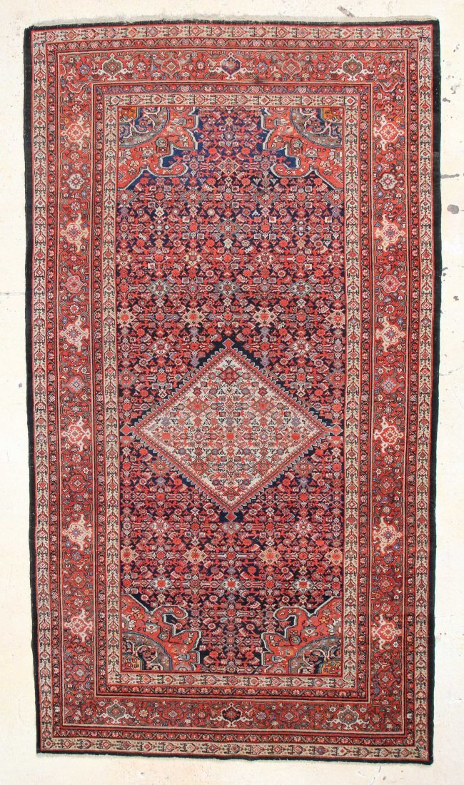 "West Persian Malayer Carpet: 13'3"" x 7'2"""